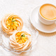 Meringue cake decorated with kumquat and coffee - PhotoDune Item for Sale
