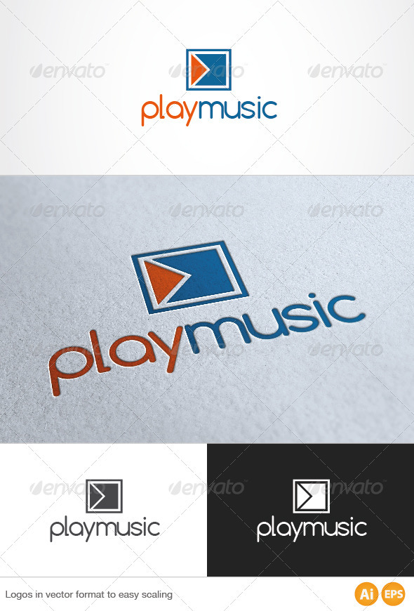 Play Music Logo - Symbols Logo Templates