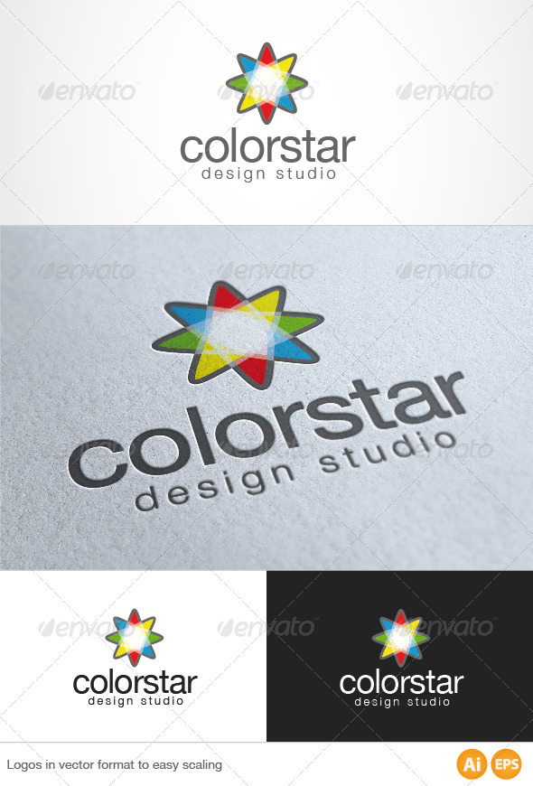 Color Star Logo - Symbols Logo Templates