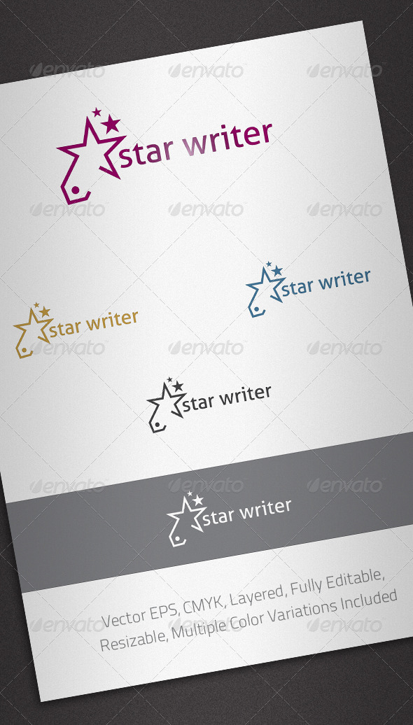 Star Writer Logo Template - Abstract Logo Templates