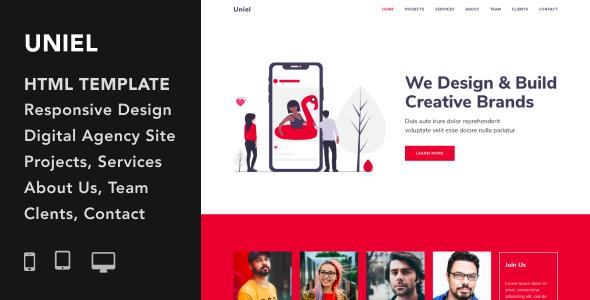 Extraordinary Uniel - Digital Agency HTML5 Responsive Template