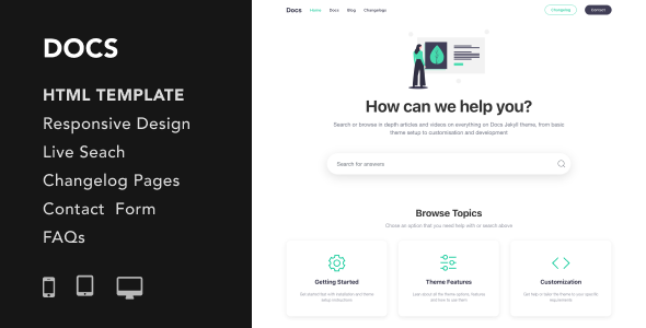 Docs - Documentation and Manual HTML5 Responsive Template by UnboundStudio