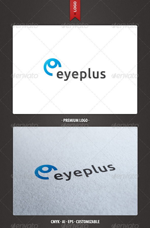Eye and Letter E Logo Template - Abstract Logo Templates