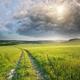 Road lane and deep blue sky. Nature design. - PhotoDune Item for Sale