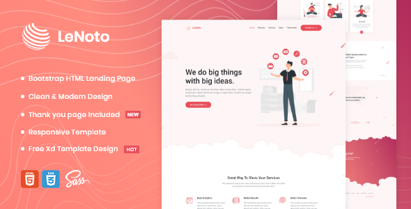 Extraordinary LeNoto - Isometric Business HTML Landing Page