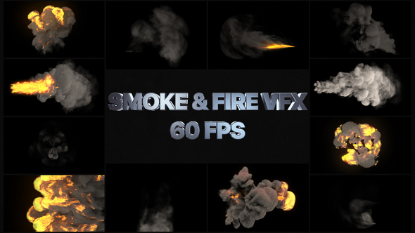 Smoke And Fire VFX Elements | Premiere Pro MOGRT