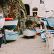 wooden boats parking harbour in Cinque Terre - PhotoDune Item for Sale