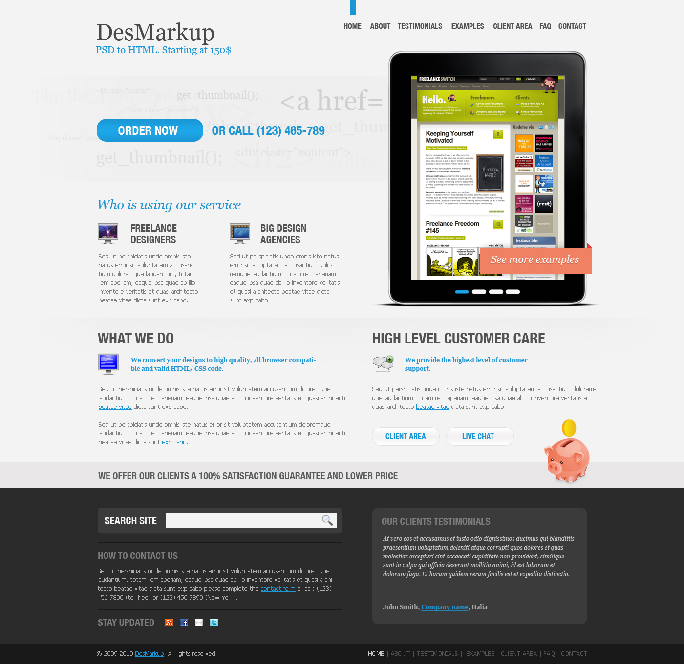 Free Download Developer PSD Template Nulled Latest Version