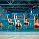 Aqua aerobics, exercise with dumbbells in the pool - PhotoDune Item for Sale