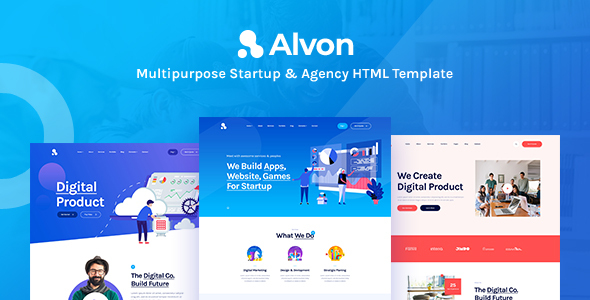 Alvon - Multipurpose Startup & Agency HTML5 Template