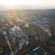 Aerial view of factory  in the sunset. - PhotoDune Item for Sale