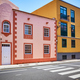 Colorful houses by a street in La Laguna old town - PhotoDune Item for Sale