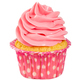 Tasty cupcake with pink cream isolated on white. - PhotoDune Item for Sale