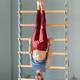 Athletic man exercising on a gymnastics ladder - PhotoDune Item for Sale