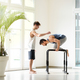 Two men working out doing calisthenics exercises - PhotoDune Item for Sale