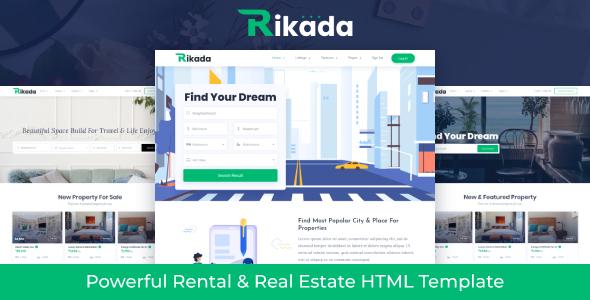 Rikada - Real Estate HTML Template by themezhub