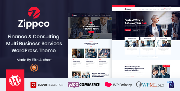 Download Zippco – Business and Finance Consulting WordPress Theme Free Nulled