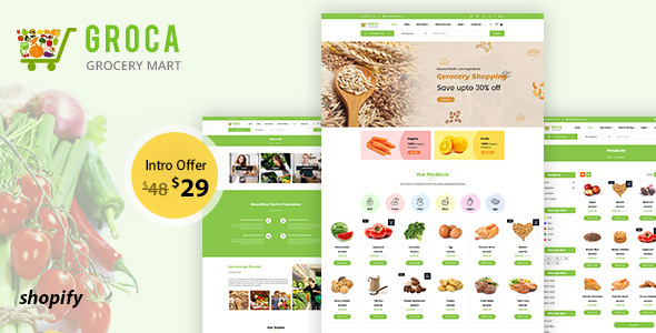 Groca - Grocery, Supermarket Shopify Theme
