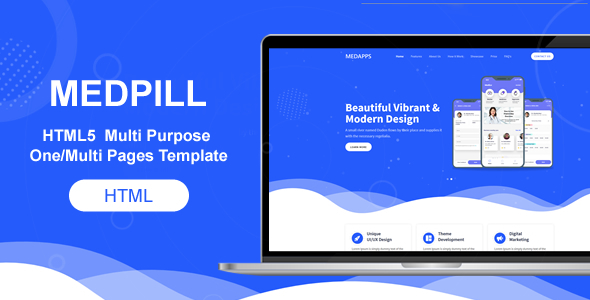 Bootstrap 4 HTML5  Multi Purpose One/Multi Pages Template