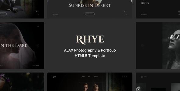 Wondrous Rhye – AJAX Portfolio HTML5 Template