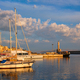 Yachts and boats in picturesque old port of Chania, Crete island. Greece - PhotoDune Item for Sale