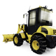 Yellow bulldozer in pile of snow - PhotoDune Item for Sale