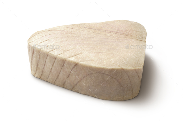 Isolated photo of  Cooked Tuna chunk - Stock Photo - Images