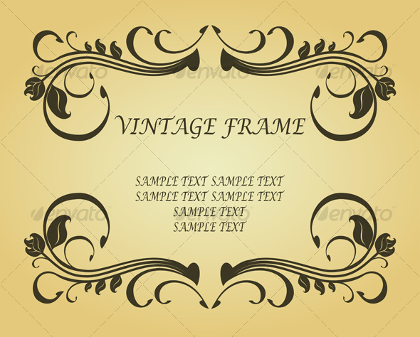 Vintage frame in victorian style - Backgrounds Decorative