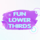 Fun Brush Strokes Lower Thirds - VideoHive Item for Sale
