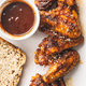 Grilled chicken wings with BBQ sauce. - PhotoDune Item for Sale