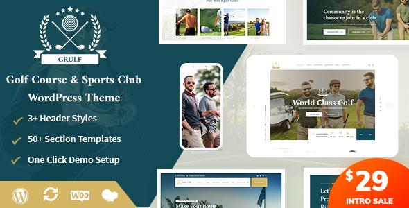 Download Grulf – Golf Club WordPress Theme Free Nulled