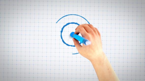 Hand Drawing Blueprint Logo Reveal