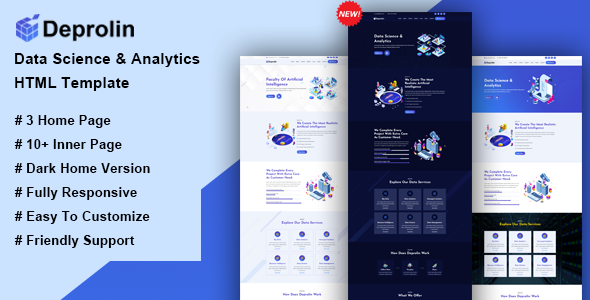 Deprolin - Data Science & Analytics HTML Template