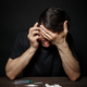 Man drug addict calls on the phone for help - PhotoDune Item for Sale