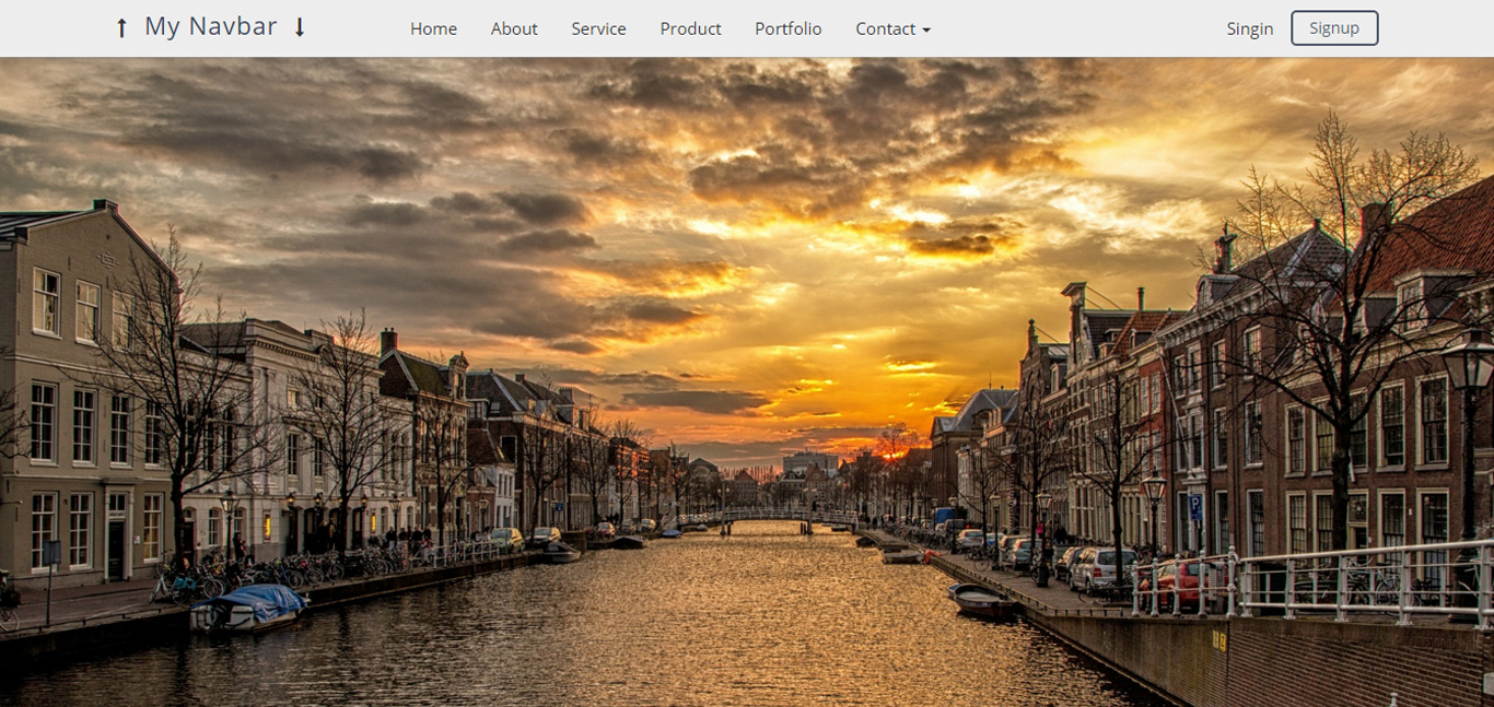 My Navbar - Top Fixed Bootstrap 3 & 4 Framework by ...