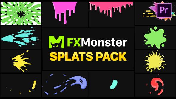 Splats Pack | Premiere Pro MOGRT