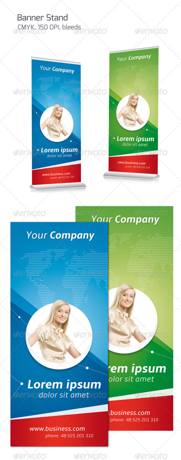 Business Banner Stand - Signage Print Templates