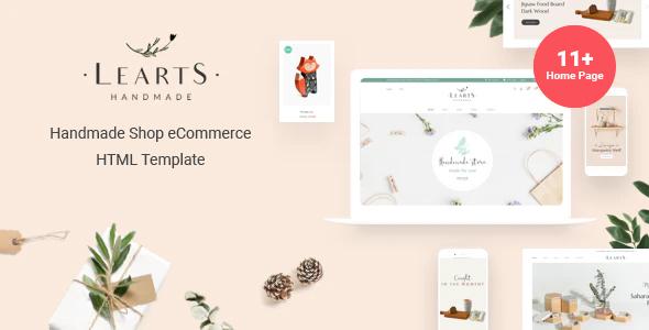 Learts - Handmade Shop eCommerce HTML Template