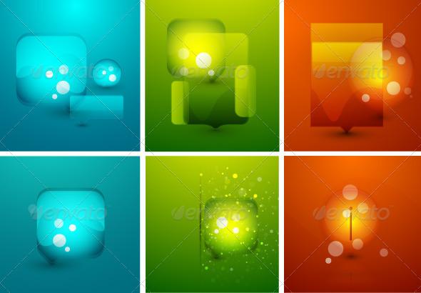 Shiny Glossy Speech Bubbles - Decorative Symbols Decorative