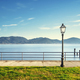 Massaciuccoli lake, terrace, street lamp and pier remains. Torre del Lago Puccini Versilia Italy - PhotoDune Item for Sale