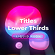 Liquid Neon Lower Thirds 4 - VideoHive Item for Sale