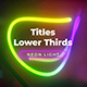 Neon Light Lower Thirds 3 - VideoHive Item for Sale