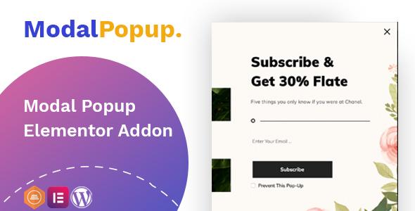 Modal Popup box Elementor Addon