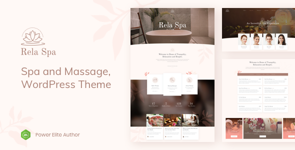 Rela Spa - Massage Salon WordPress by TrueThemes