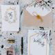 wedding invitation card decoration lay flat fine art - PhotoDune Item for Sale