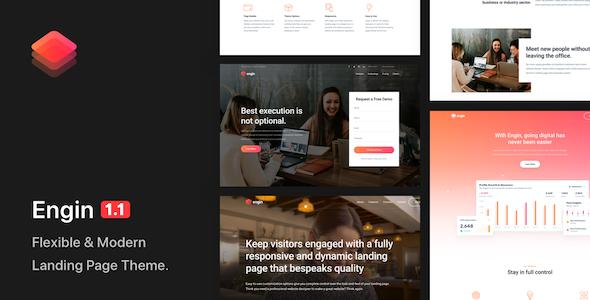 Engin - Multipurpose Landing Page WordPress Theme by socanny