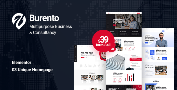 Burento - Multipurpose Business WordPress Theme