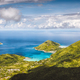 Mahe island, Seychelles. Panoramic view on therese island, bay ternay from morne blanc hill view - PhotoDune Item for Sale