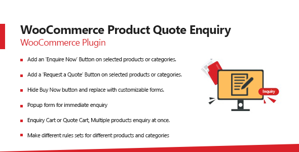WooCommerce Product Quote Enquiry Plugin