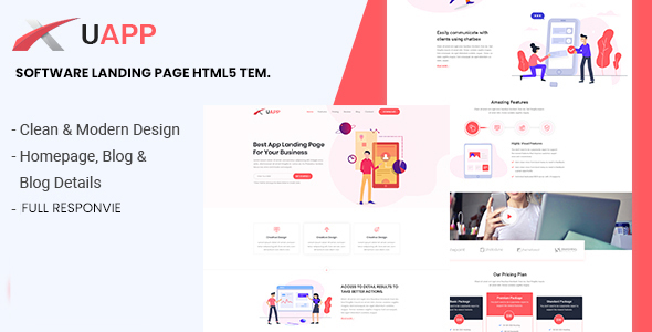 XUAPP - App Landing Page HTML Template